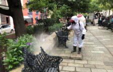 Desinfecta Ayuntamiento de Oaxaca 33 espacios públicos para minimizar riesgos a la salud