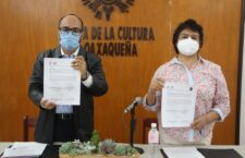 Signan convenio Casa de la Cultura Oaxaqueña y el Instituto de Estudios Superiores en Artes Escénicas de Oaxaca