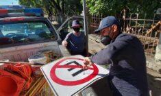Brinda Ayuntamiento mantenimiento a señalética vial de la ciudad capital
