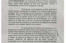 Anuncia abogado Juan José Meixueiro que iniciará procedimiento por publicación difamatoria.