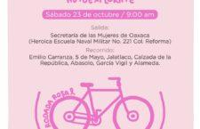Se suma SMO a iniciativa de 50+1 en rodada rosa y llama al autocuidado en la lucha contra el cáncer de mama